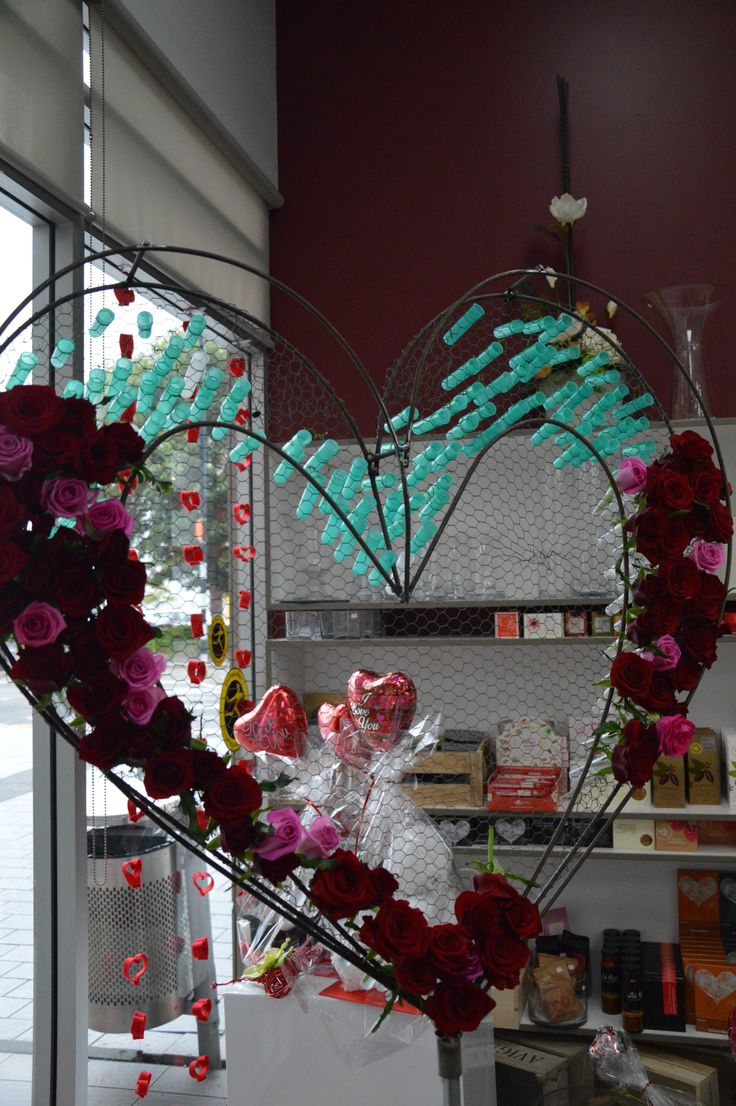 Heart for the window display
