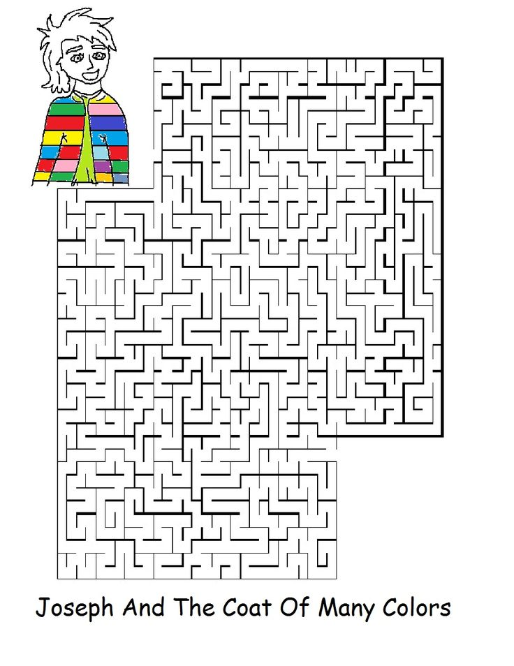Joseph Coat Many Colors Coloring Page