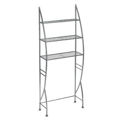 Website Photo Gallery Examples over the toilet or up against the wall in the bathroom Buy Metal Space Saver Silver Finish Shelf from Bed Bath Beyond