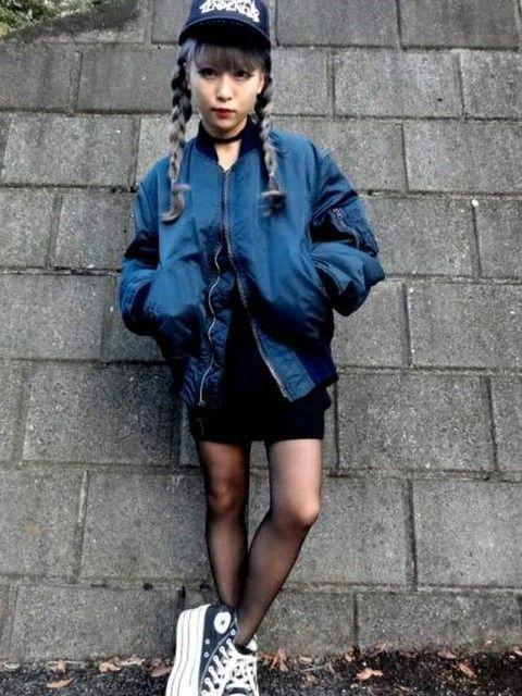 MA-1スタイル! 裏原系タイプのファッション スタイル参考コーデ♡