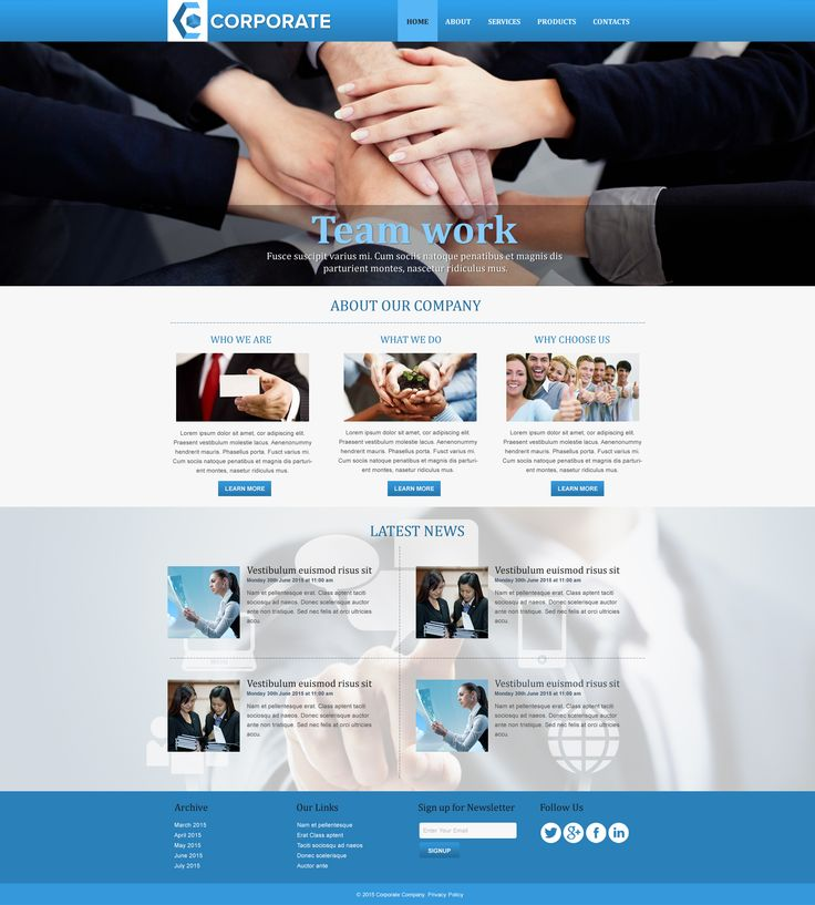 Sell365's Corporate Template. One of the best Website Builder in India. Design and customize your own website with our free website templates.