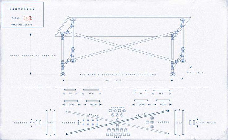 Cartolina - Sacffolding Table plans