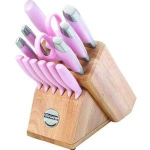 OMG!  I HAVE to have these. Would also look awesome for my cupcake theme!!!  KitchenAid 14 Piece Knife Set