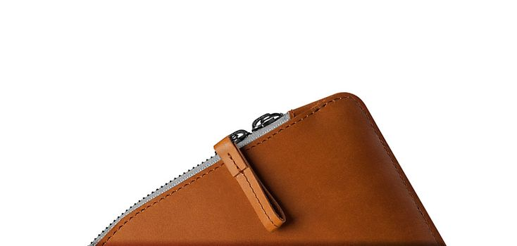 "Mujjo Folio Sleeve for 13"" Macbook Pro and Air - Tan Cremallera"