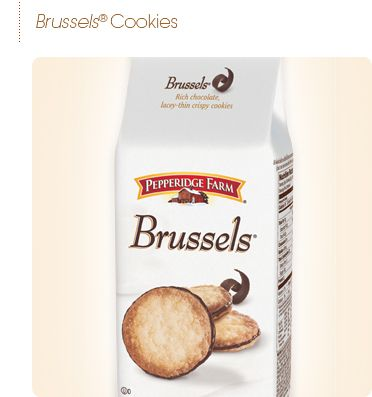 Pepperidge Farm® - Brussels® Cookies.  I LOVE the mint ones but rarely find them.