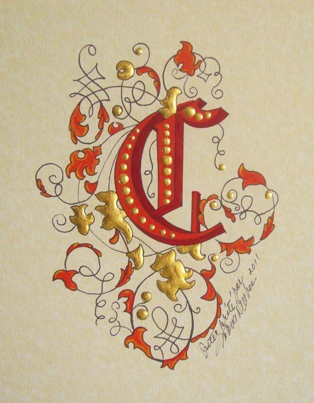 Enluminures par Mona Dalbec: Lettres