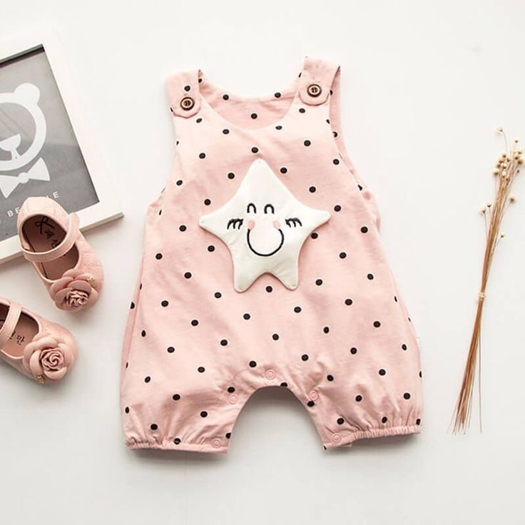 "Adorable Pink Star Dot Romper Now 45% OFF for Sale Use Code ""10PATPAT"" to Get an EXTRA 10% OFF buy now>> https://www.patpat.com?adlk_id=44"