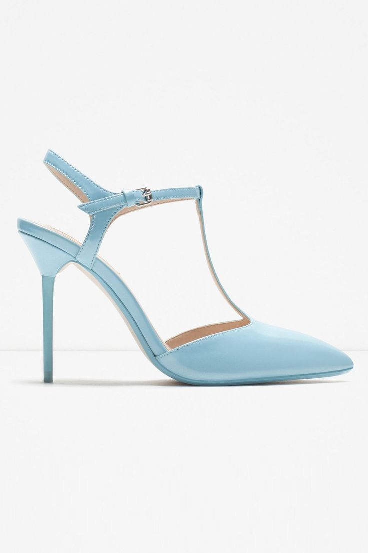 Zara High-Heel Mules With Ankle Strap, $29.99, available at Zara.