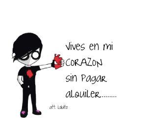 Emo Imagen Vives en mi corazón #amor #love #i_love_you #te_quiero #te_amo
