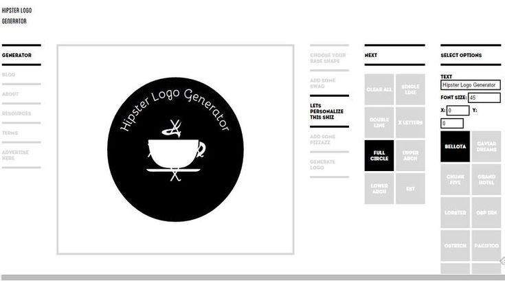 Hipster Logo Generator es una herramienta online gratuita con la que podemos generar fácilmente logotipos de aspecto desenfadado y estilo vanguardista.
