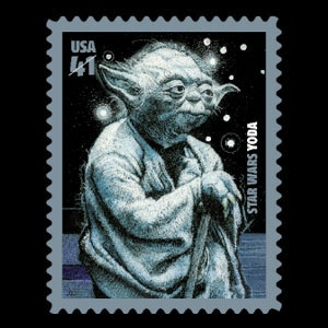 Yoda Star Wars Postage Stamp T-Shirt.  Must.  Have.