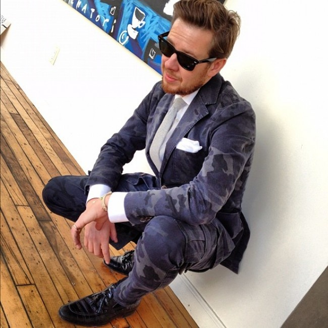 navy camo suit men style nish suitsupply