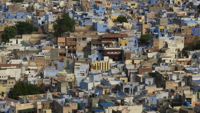 Once an indicator of social class, the color blue has come to define this city on the edge of the Thar Desert.