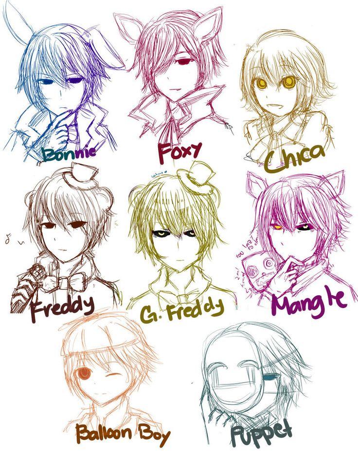 FNaF Human Characters D by Lolikuro on DeviantArt Five