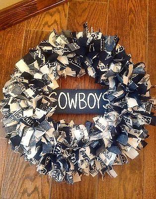 Dallas Cowboys Wreath Fabric Football NFL Sports Man Cave