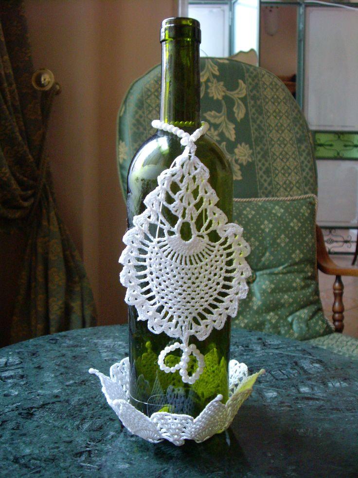 14 best botellas decoradas para el brindis images on - Botellas de vino decoradas ...