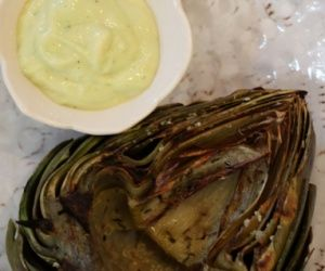 Grilled Artichokes with Garlic Aioli or Drawn Butter Recipe | Paleo inspired, real food