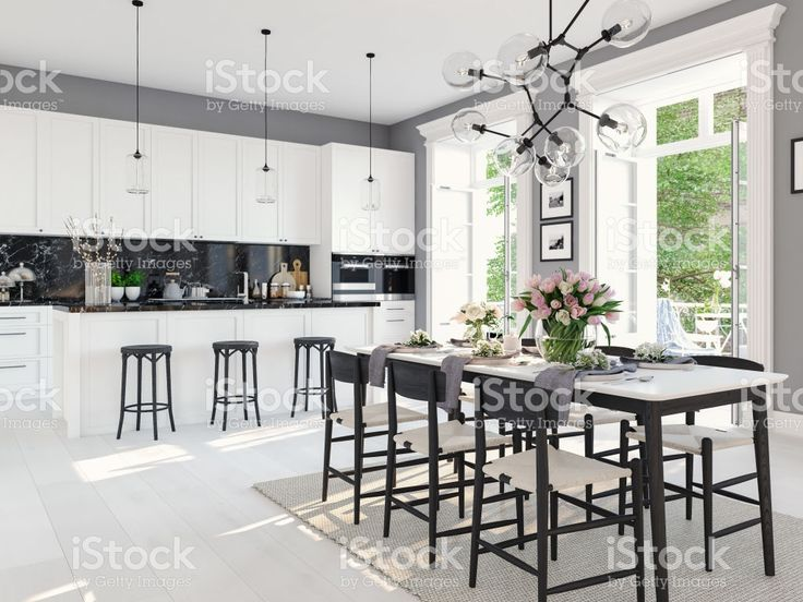 3d rendering of modern kitchen in a loft