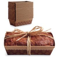 Great for gift giving.  Paper Loaf Molds