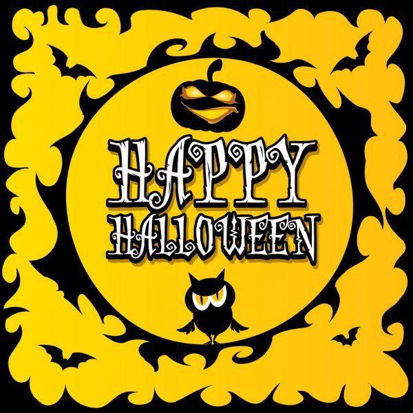 Vector Happy Halloween Card Design Template Stock Vector Aff Halloween Happy Vector Card Ad