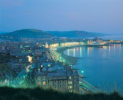 Aberystwyth, Wales, taken from Constitution Hill.