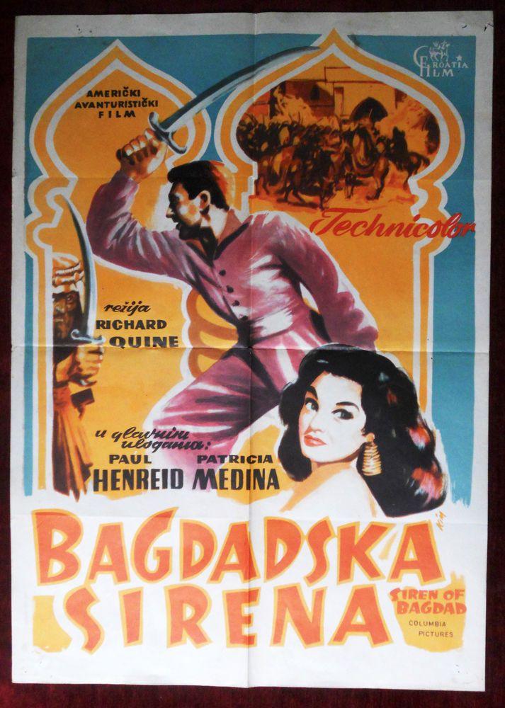 1953 Original Movie Poster Siren of Bagdad Richard Quine Paul Henreid Medina #Vintage