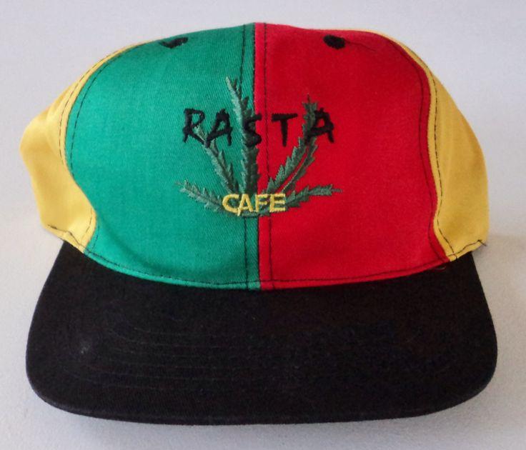 Vintage Rasta Cafe Snapback Hat VTG