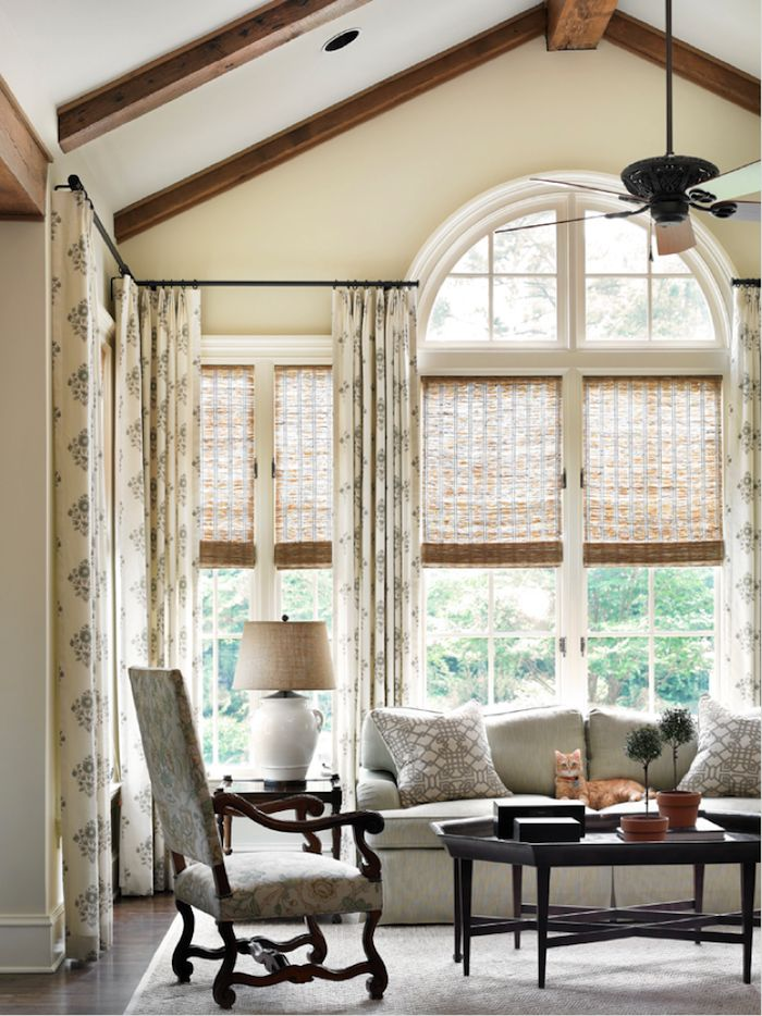 Window Treatments For Difficult Windows + What You Must Never Do | challenging windows expertly dressed by interior designer Chris Holt