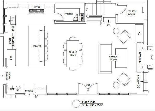 Kitchen Design Layout Floor Plan Wowhomy