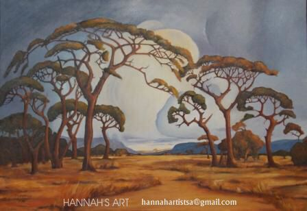 Artist: HANNAH, Tribute to Pierneef, Oil on canvas, 990 x 700, SOLD