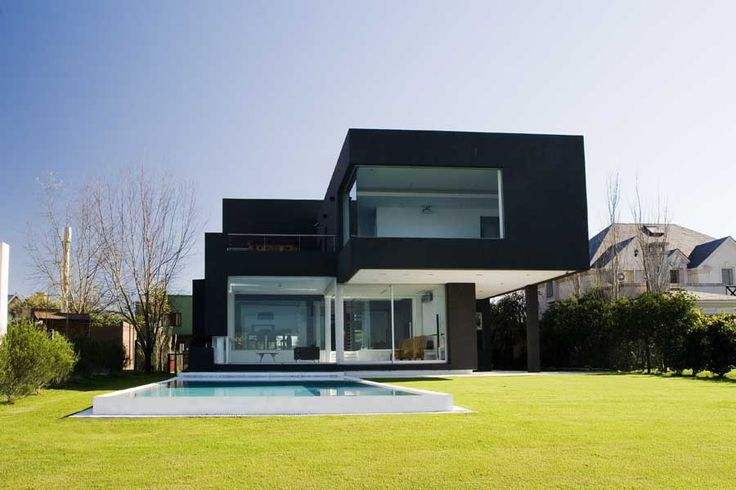 Casa Negra: Black House Argentina - design by Andrés Remy Arquitectos - Casa Negra Argentina, contemporary residential architecture: new property
