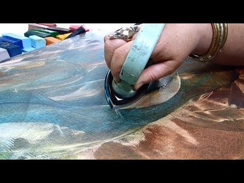 Creating Detailed Encaustic Paintings with the C5 Pen Point - YouTube