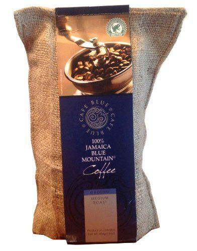 Cafe Blue 100% Jamaica Blue Mountain Coffee Grounds (16oz) - http://teacoffeestore.com/cafe-blue-100-jamaica-blue-mountain-coffee-grounds-16oz/