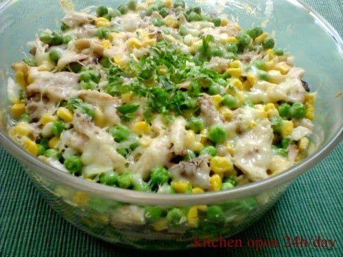 Receptek, és hasznos cikkek oldala: Sajtos-sonkás saláta, hidegen és melegen is fogyasztható csodás étel! Ezt még a férfiak is szeretik
