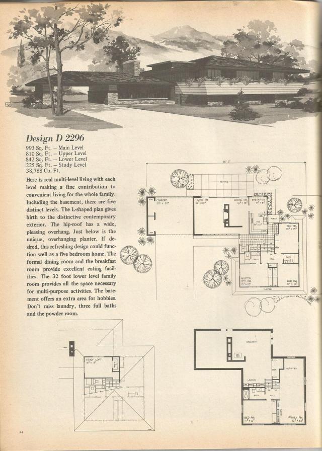 Av jennings house plans 1960s home design and style for 1960 house plans