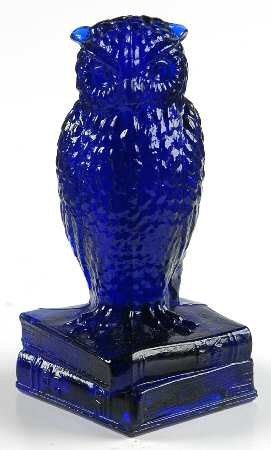 Vintage Degenhart Cobalt Blue Glass Owl by JSVintageHut on Etsy, $12.99