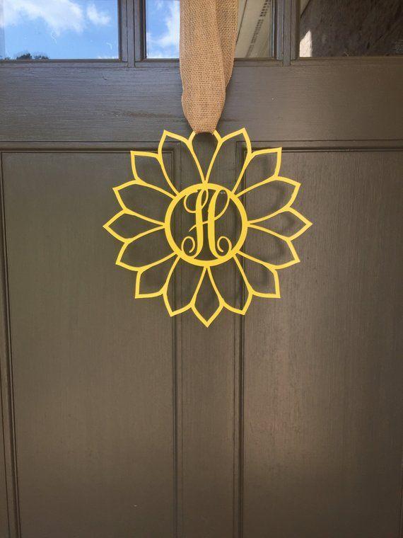 Metal Monogram Sunflower Outdoor Indoor 1 8 Thick Steel Monogram Metal Dorm Decorations