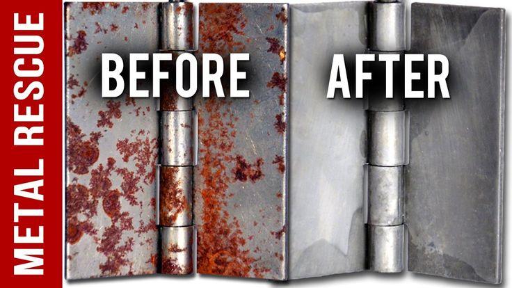 How to remove rust from metal door hinges in 3 easy steps
