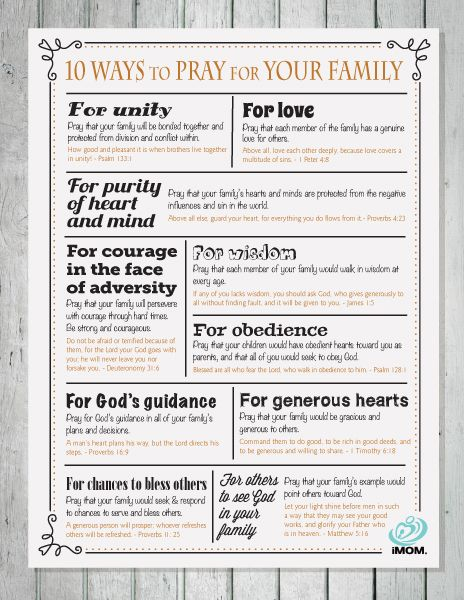 10 Ways to Pray for Your Family