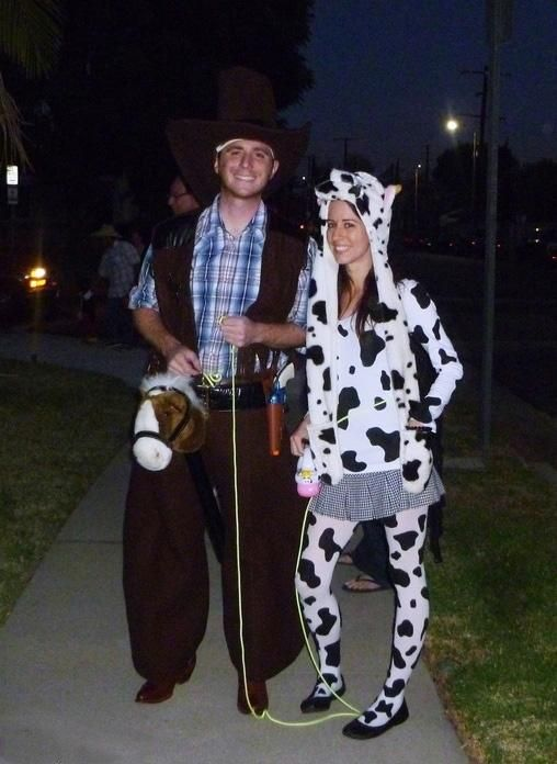 Cow And Cowboy Costumes For Couples  Cowboy Costumes -9512