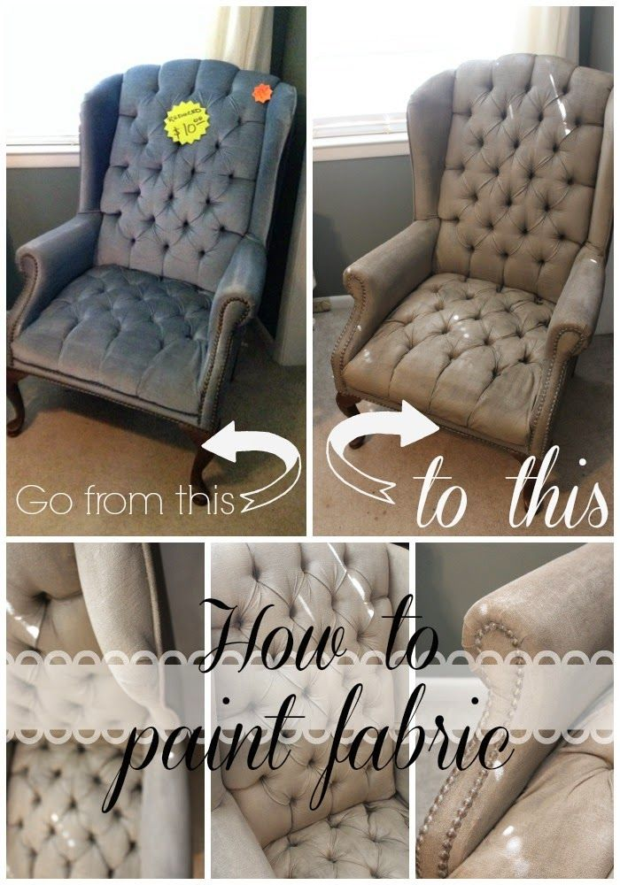 DIY Painted fabric chair. This one is tufted velvet painted with a latex paint in a satin finish and mixed with ceramcoat textile medium