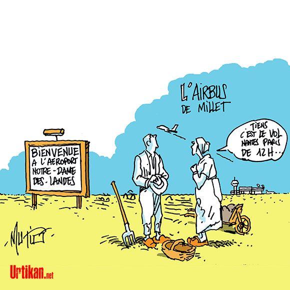 Notre-Dame-des-Landes: décollage imminent du chantier - Dessin du jour - Urtikan.net