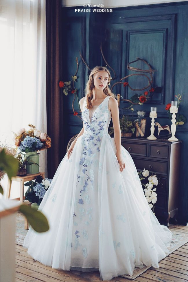 A Beautiful White Gown With A Touch Of Something Blue Cass Wedding Is Presenting The Perfect Fusion Of Romance And Elegance Enchanted Wedding Dress Wedding Dresses Whimsical Wedding Dresses
