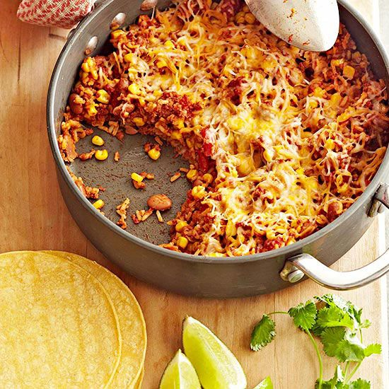 Mexican Skillet Dinner from @Gayle Roberts Merry Homes and Gardens
