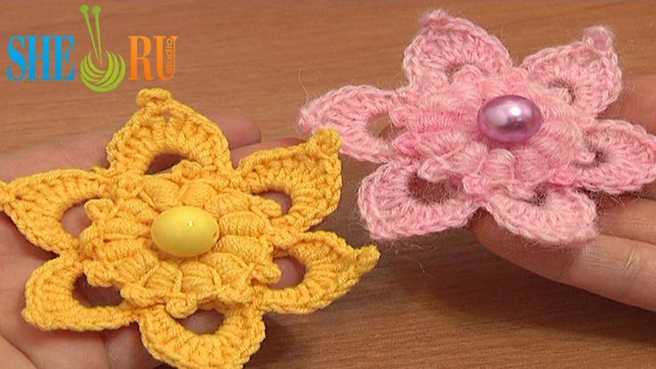 17 Best images about Crochet Flower Tutorials on Pinterest ...