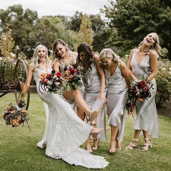 Cowl Slip Silk Dress Many Colors Beige Long Slip Dress Bridesmaid