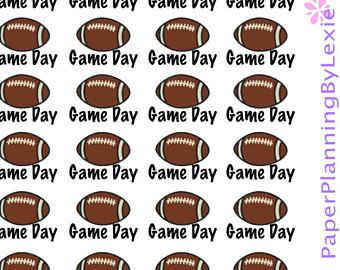 Game Day Stickers/ Football Stickers/ College Football Stickers/ College Stickers/ Planner Stickers/ Stickers/ Football Sticker