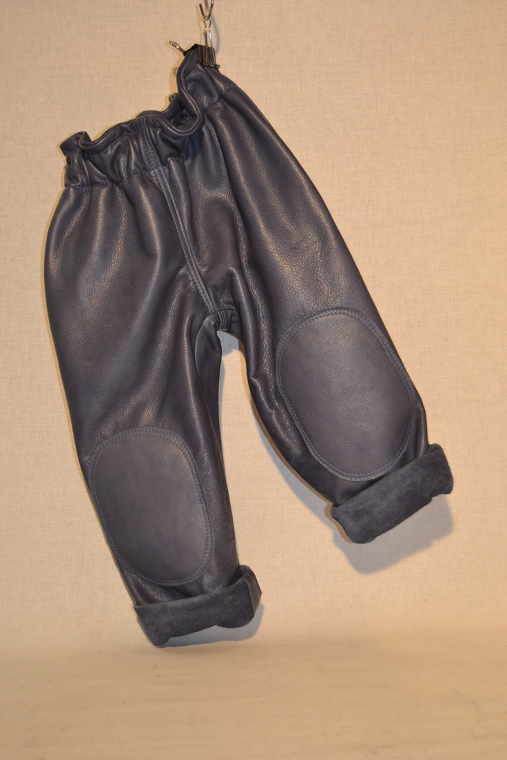 leather pants blue for kids