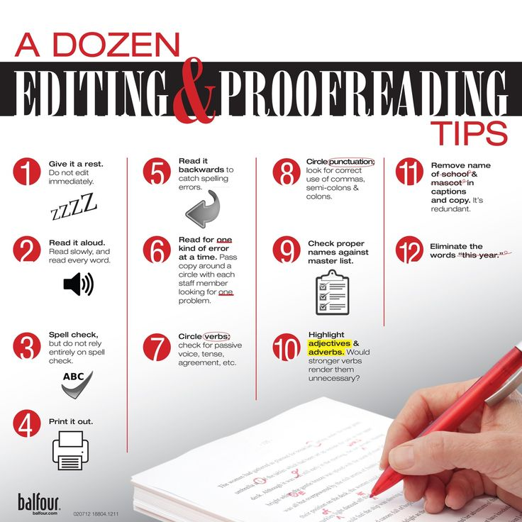 Editing paper tips