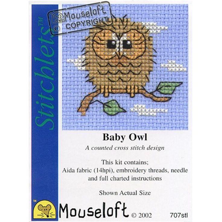 Mouseloft Baby Owl Stitchlets